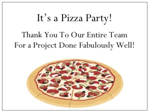 gThankYou Pizza Enclosure Card