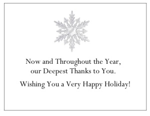 gThankYou! Crystal Snowflake Enclosure Card