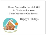 gThankYou! Gingerbread House Enclosure Card