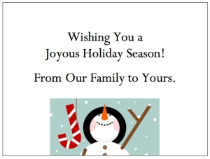 gThankYou! Joyful Snowman Enclosure Card
