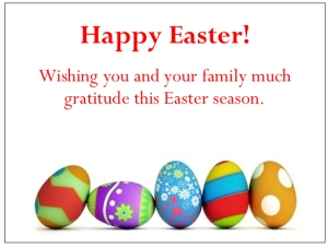 gThankYou! - 5 Easter Eggs Enclosure Card