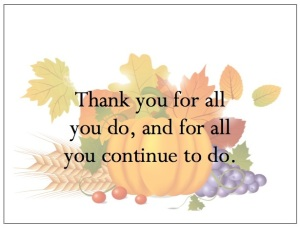 gThankYou! Autumn Pumpkin Watermark Enclosure Card