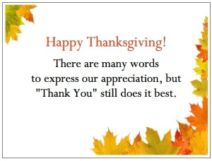 gThankYou! Fall Border Enclosure Card