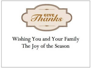 gThankYou! Give Thanks Enclosure Card