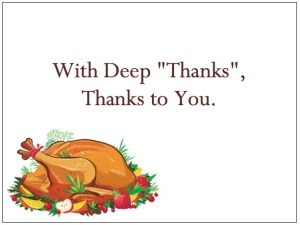 gThankYou! Holiday Turkey Enclosure Card