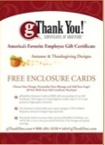 gThankYou! Thanksgivng Enclosure Card Catalog