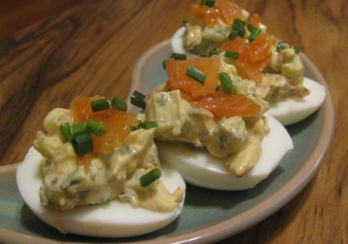 Deviled eggs for Lila